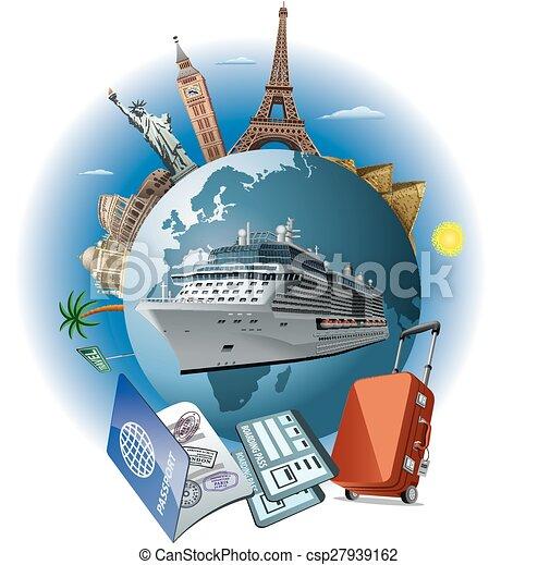 bateau, voyage, croisière - csp27939162