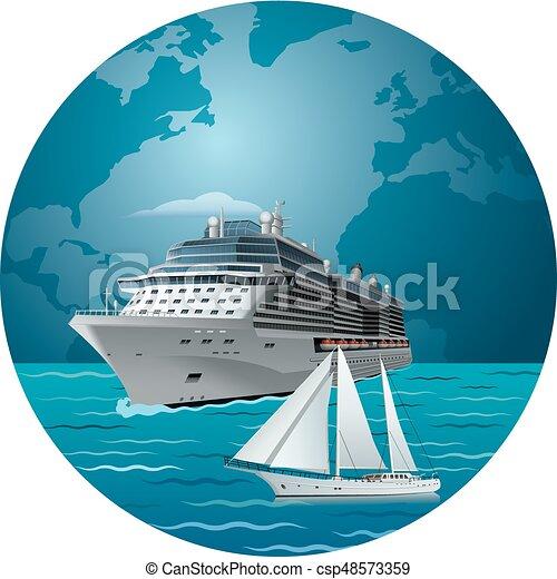 bateau, yacht, croisière luxe - csp48573359