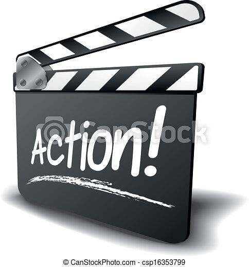 battant, action, planche - csp16353799