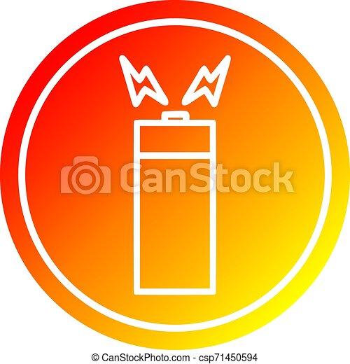 batterie, gradient, chaud, spectre, circulaire - csp71450594