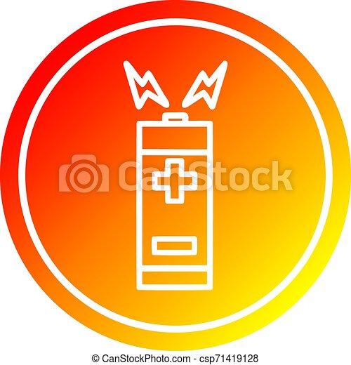 batterie, gradient, chaud, spectre, circulaire - csp71419128