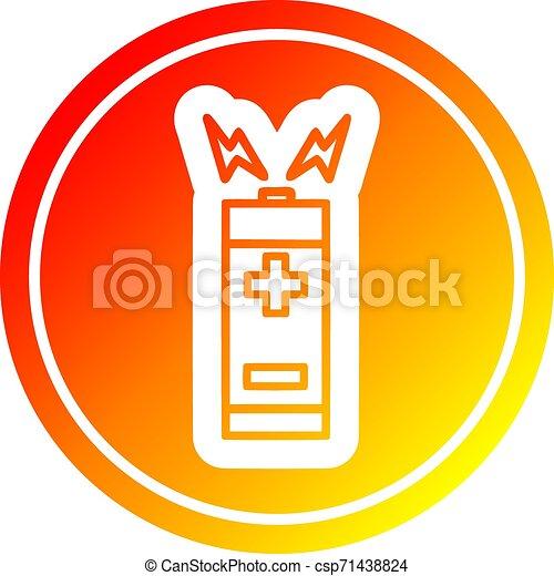 batterie, gradient, chaud, spectre, circulaire - csp71438824
