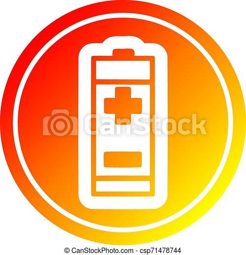 batterie, gradient, chaud, spectre, circulaire - csp71478744