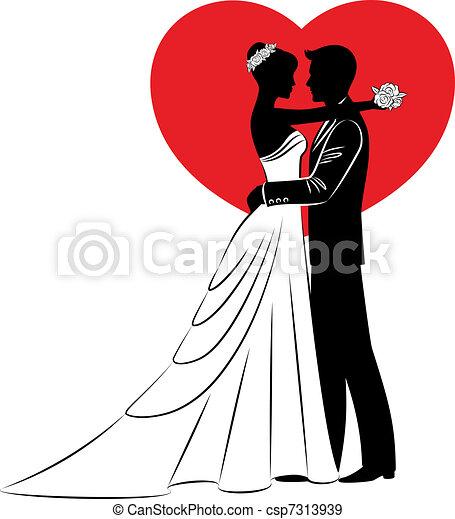 beau, mariée, palefrenier - csp7313939