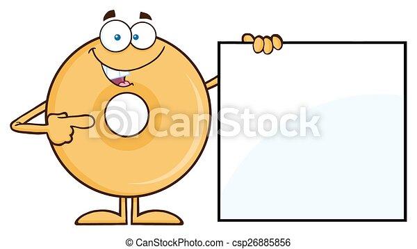 beignet, projection, signe blanc - csp26885856