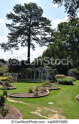 birmingham, alabama, jardins botaniques - csp50919480
