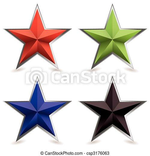 biseau, forme, métal, étoile - csp3176063