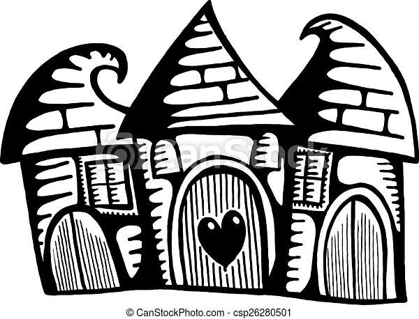 bizarre, village, maisons - csp26280501