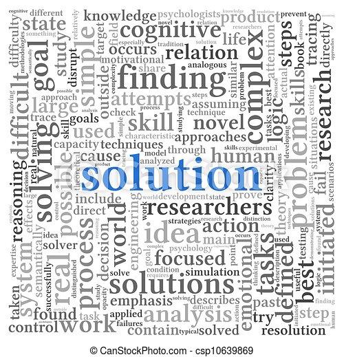 blanc, étiquette, mot, solution, nuage - csp10639869