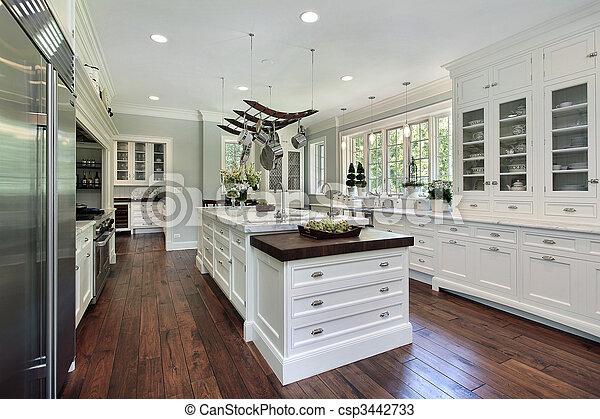blanc, cabinetry, cuisine - csp3442733