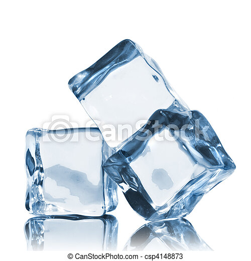 blanc, cubes, isolé, glace - csp4148873