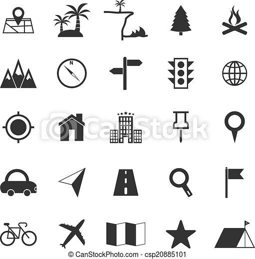 blanc, emplacement, fond, icônes - csp20885101
