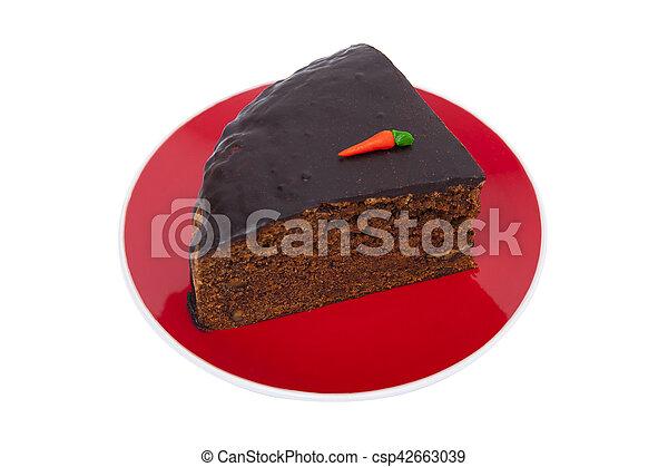 blanc, gâteau carotte, isolé - csp42663039