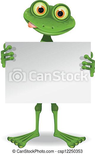 blanc, papier, grenouille - csp12250353