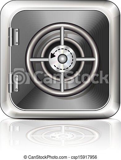 blanc, sûr, fond, icône - csp15917956