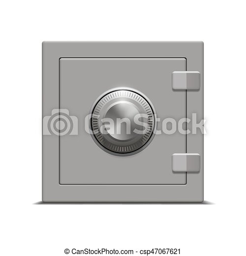 blanc, sûr, métal, fond - csp47067621