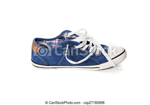 bleu, chaussure athlétique - csp27180898