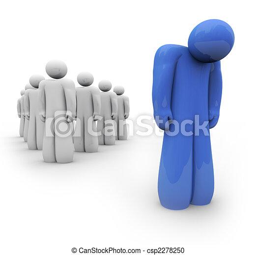 bleu, déprimé, -, personne, sentiment - csp2278250