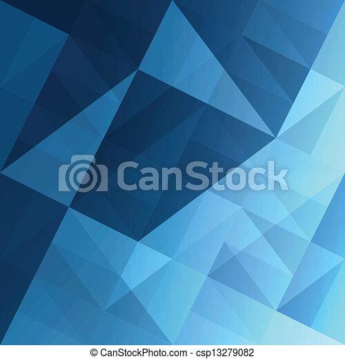 bleu, eps10, résumé, arrière-plan., vecteur, triangles - csp13279082