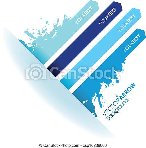 bleu, ligne, éclaboussure, flèche - csp16239060