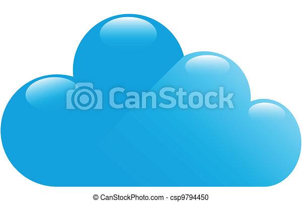 bleu, lustré, nuage - csp9794450