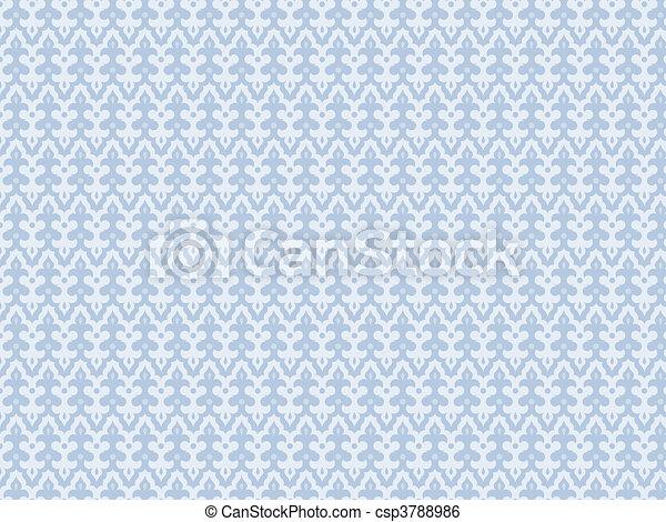 bleu, seamles, fond, lumière - csp3788986