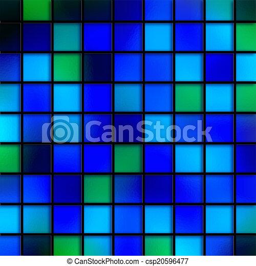 bleu, tuiles, eau - csp20596477
