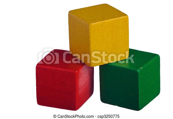 blocs, bois, bâtiment - csp3250775