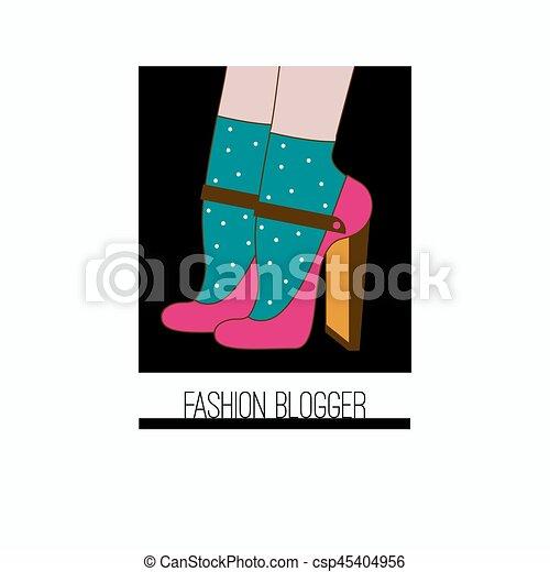 blogger, mode, icône - csp45404956