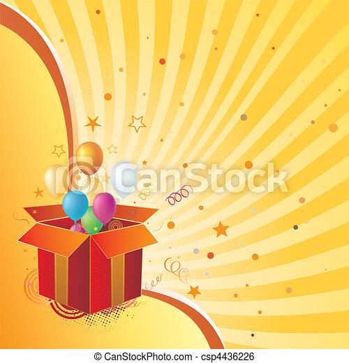 boîte, cadeau, célébration - csp4436226