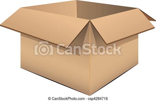 boîte, carton, vide - csp4284716