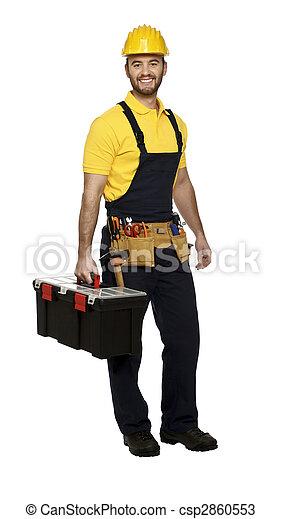 boîte outils, travail, homme - csp2860553
