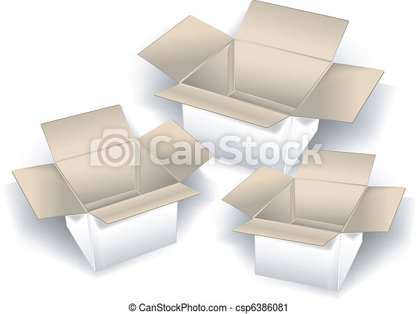 boîtes, trois - csp6386081