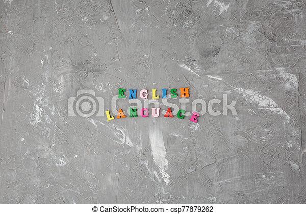 bois, anglaise, coloré, inscription, lettres - csp77879262
