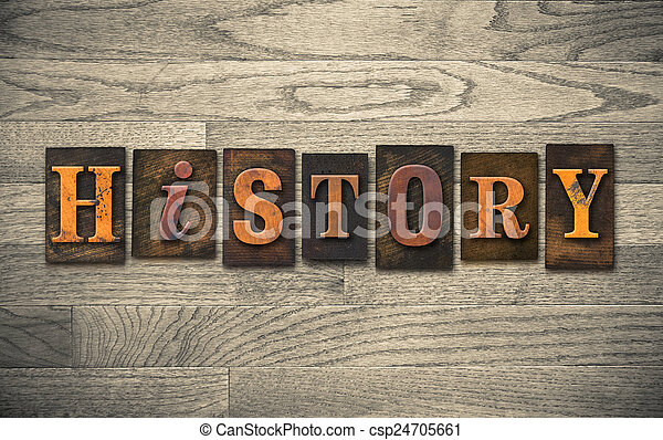 bois, concept, letterpress, histoire - csp24705661