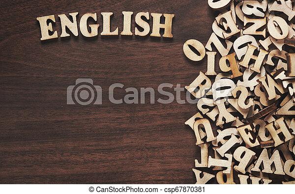bois, mot, fait, lettres, anglaise - csp67870381