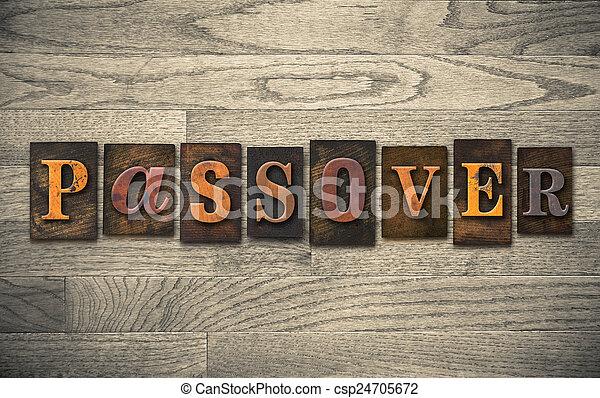 bois, pâque, concept, letterpress - csp24705672