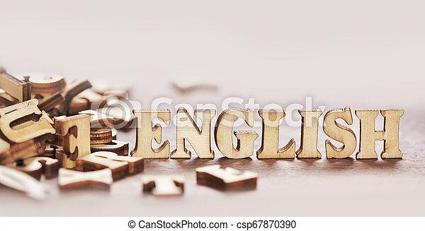 bois, texte, lettres, anglaise - csp67870390
