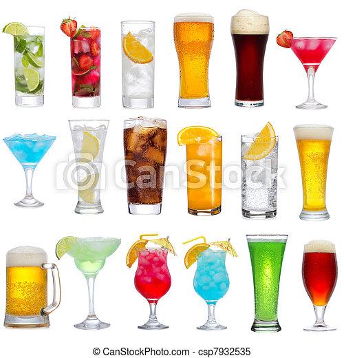 boissons, cocktails, différent, ensemble, bière - csp7932535