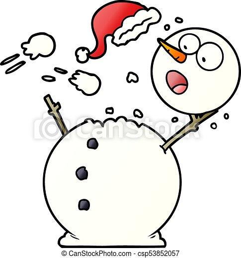 bonhomme de neige, combat snowball - csp53852057
