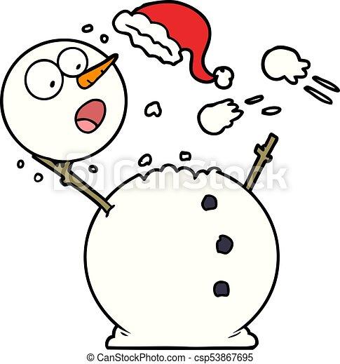 bonhomme de neige, combat snowball - csp53867695