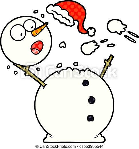bonhomme de neige, combat snowball - csp53905544
