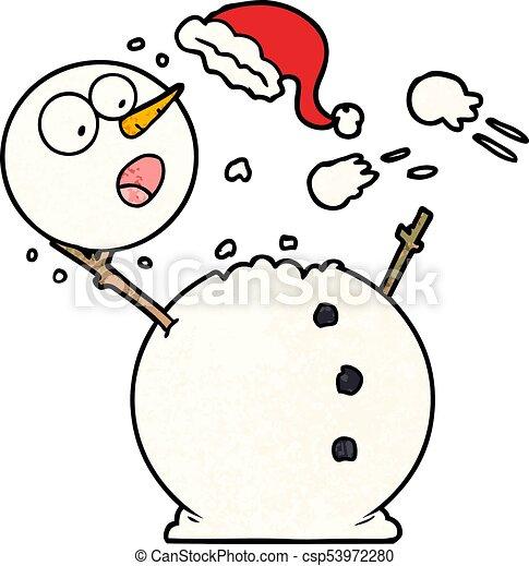 bonhomme de neige, combat snowball - csp53972280