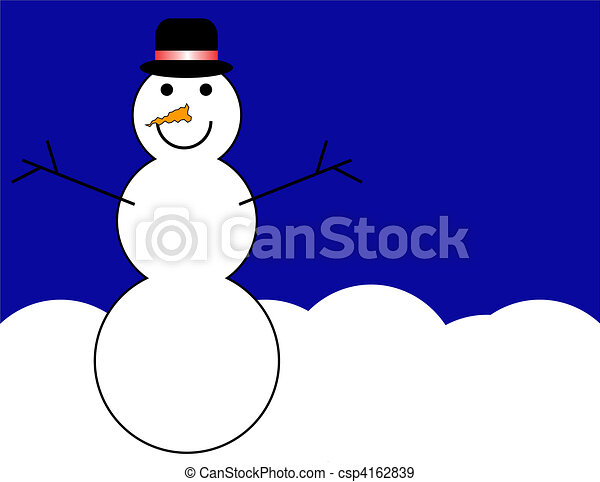 bonhomme de neige, fond - csp4162839