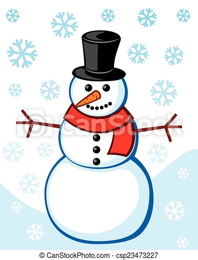 bonhomme de neige - csp23473227