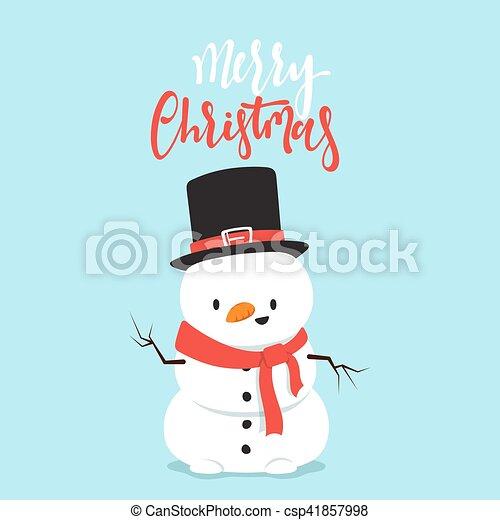 bonhomme de neige, peu, boy., caractère, baston, boule de neige, dessin animé, jouer - csp41857998