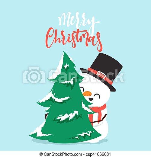 bonhomme de neige, peu, boy., caractère, baston, boule de neige, dessin animé, jouer - csp41666681