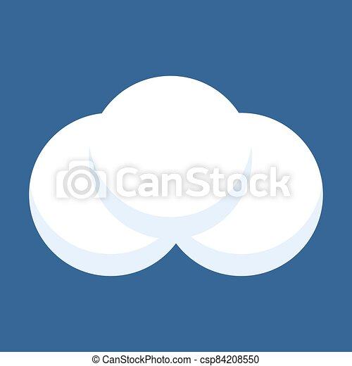 boule de neige, isolé, bleu, arrière-plan. - csp84208550