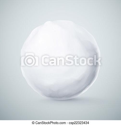 boule de neige, isolé - csp22323434