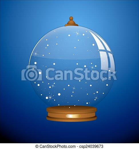 boule de neige, vecteur - csp24039673